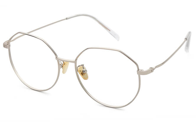 Mercedes Oval Metal Eyeglasses фото