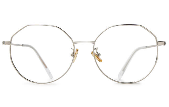 Mercedes Oval Metal Eyeglasses