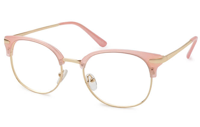 Leigh Browline Round Eyeglasses фото