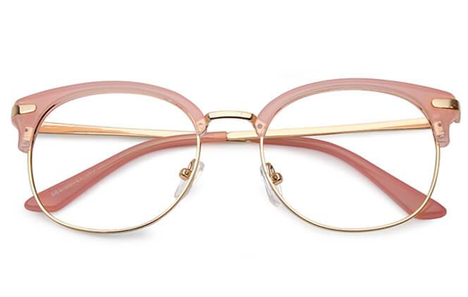 Leigh Browline Round Eyeglasses