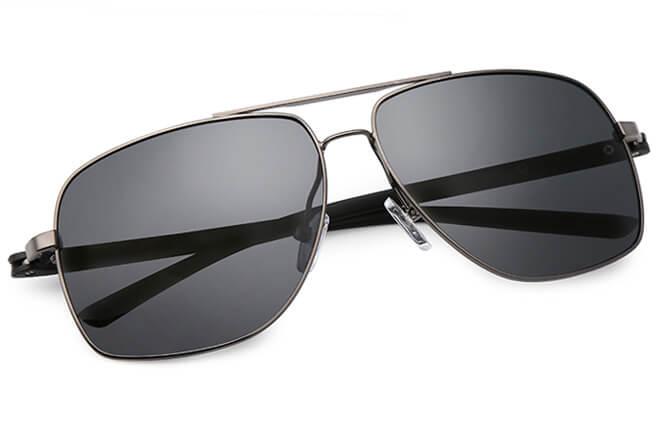 Zack Aviator Rectangle Sunglasses