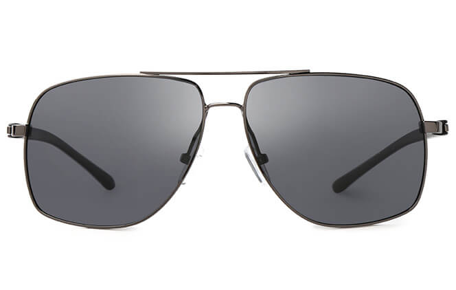 Zack Aviator Rectangle Sunglasses