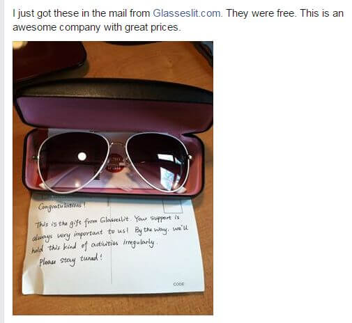 Glasseslit Testimonials - A sweet gift from Glasseslit! Stay tuned!