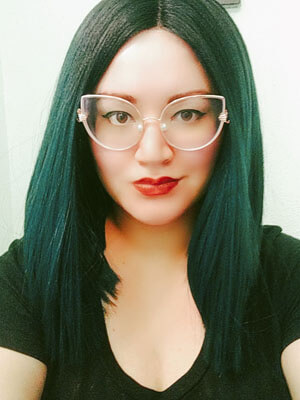"""Glasseslit Testimonials - I just love these """"Chrischris"""" style glasses! They're so fun with the pearl nose pieces and little hands holding the frames. I get compliments where ever I go! In facet my sisters loved them on me so much they also ordered a pair. Definitely, a must buy for the fun loving, statement makers."""