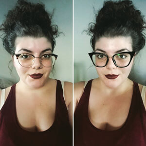 Glasseslit Testimonials - Not like any other cat eye frame I've come across. I love the shape and how slimming and hip they are. High quality products for an amazing deal.